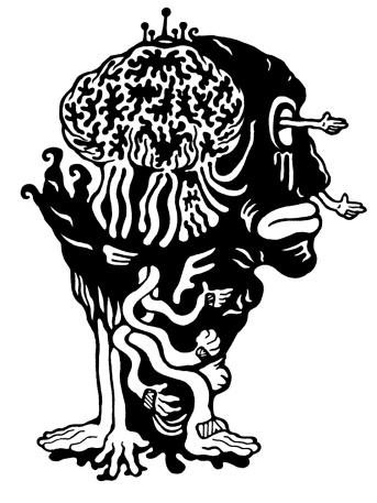 Gabriel Tiongson Brain Drain ink on paper © 2010