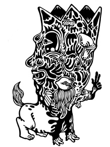 Gabriel Tiongson Centaur ink on paper © 2010