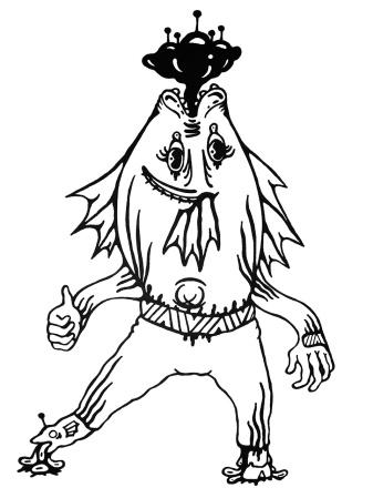 Gabriel Tiongson Flounder ink on paper © 2010