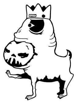 Gabriel Tiongson Foo Frog ink on paper © 2010
