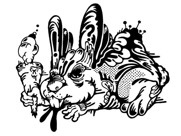 Gabriel Tiongson Fugs ink on paper © 2010