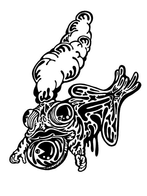 Gabriel Tiongson Tree Frog ink on paper © 2010