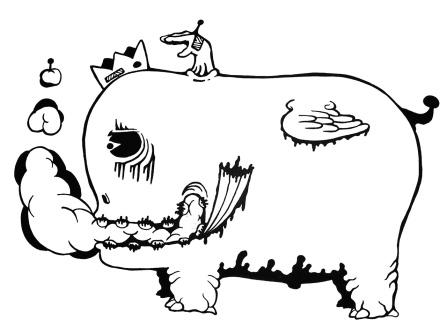 Gabriel Tiongson Whale Mist ink on paper © 2010