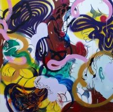 Gabriel Tiongson Mark I. Ngs III 8 acrylic on canvas 150x150 cm © November 2015
